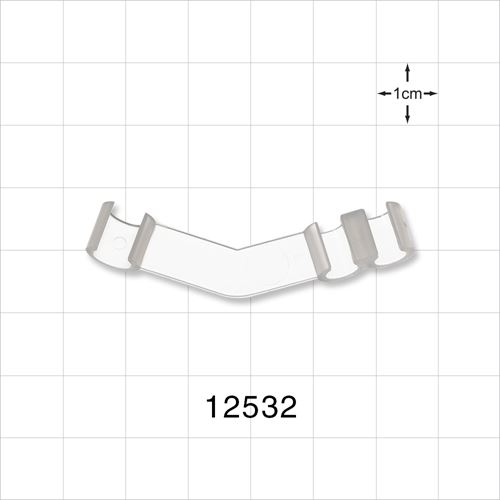 3-Channel Multi-Cavity Angle Clip, Natural - 12532