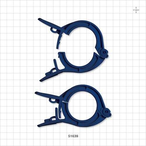 PharmaLok™ Non-Reopening Clamp, Blue - 51639