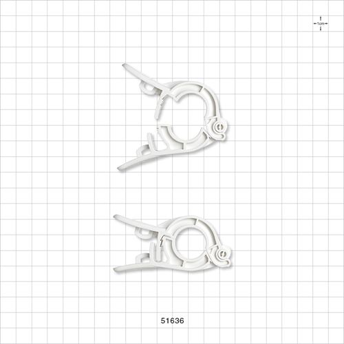 PharmaLok™ Non-Reopening Clamp, White - 51636