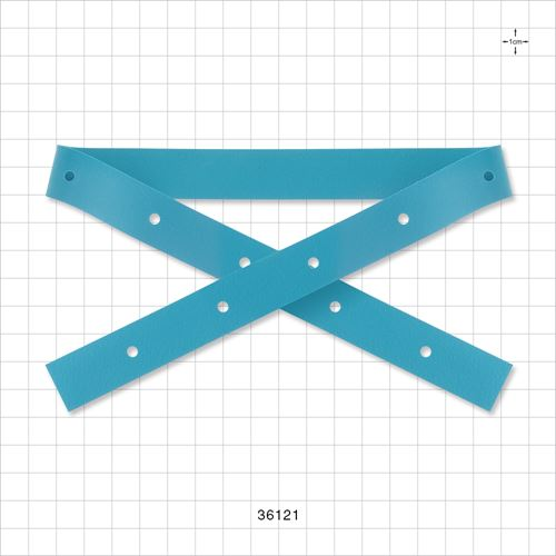 Non-Latex Strap with 10 Button Holes, Blue - 36121