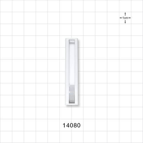 Roller Clamp, White body, Natural Wheel - 14080