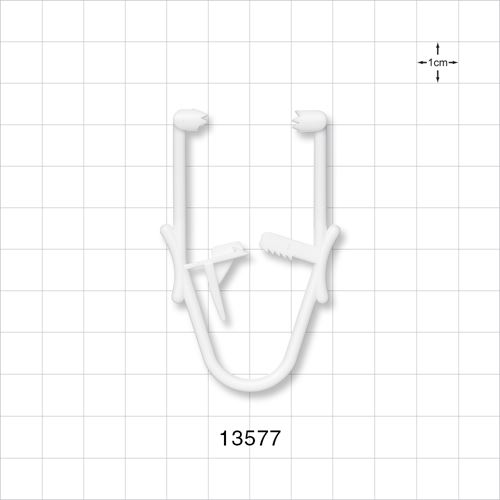 Towel Clamp; White - 13577
