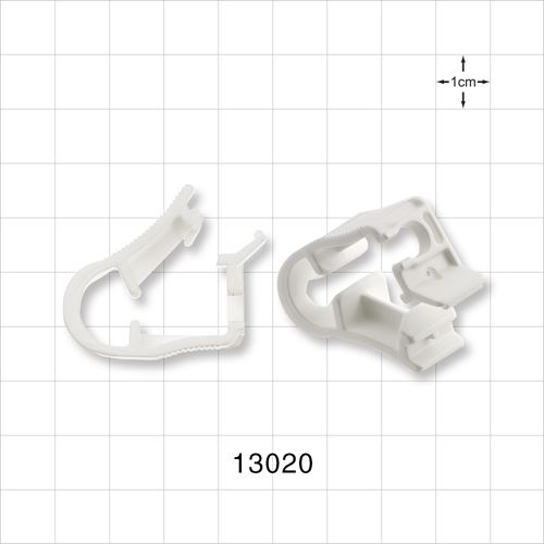 Side Load Pinch Clamp, White - 13020