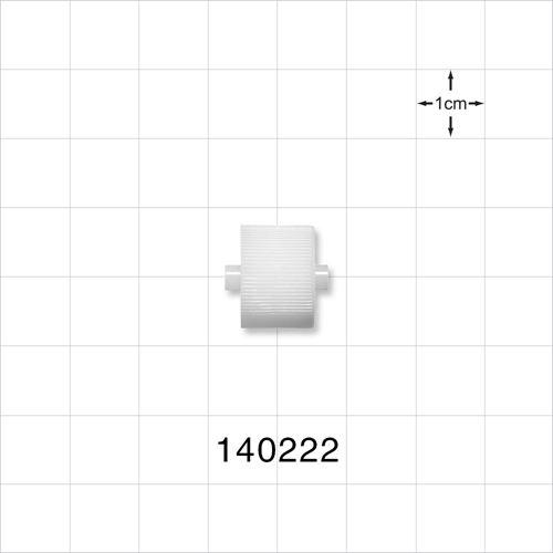 Roller Clamp Wheel, White; for 140221 - 140222