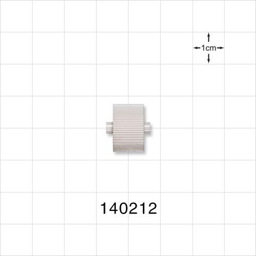 Roller Clamp Wheel, White; for 140211 - 140212