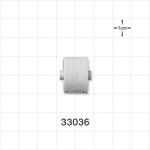 Roller Clamp Wheel, White; for 33035 - 33036
