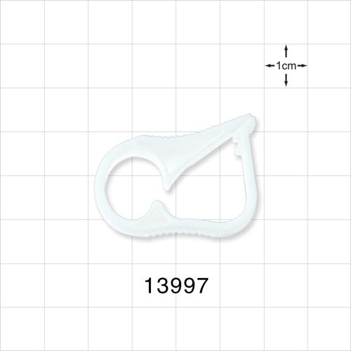 Ratchet Style Pinch Clamp, White - 13997