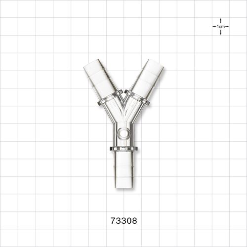 Y Connector with Female Luer Lock Port - 73308