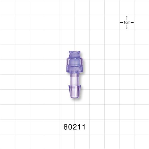 Needleless Injection Site, Swabbable, Female Luer Lock to Barb Connector - 80211