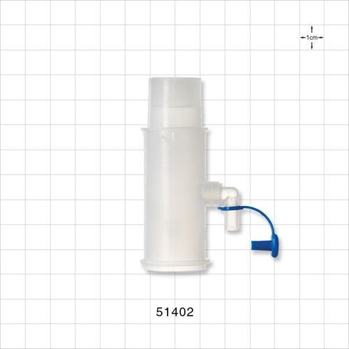 Temperature Connector with 90 Degree Gas Sampling Port and Plug - 51402