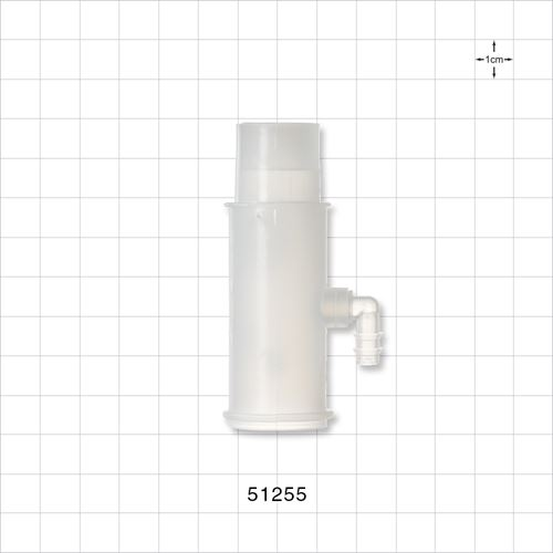Oxygen Tee Adapter with Rotating Port - 51255
