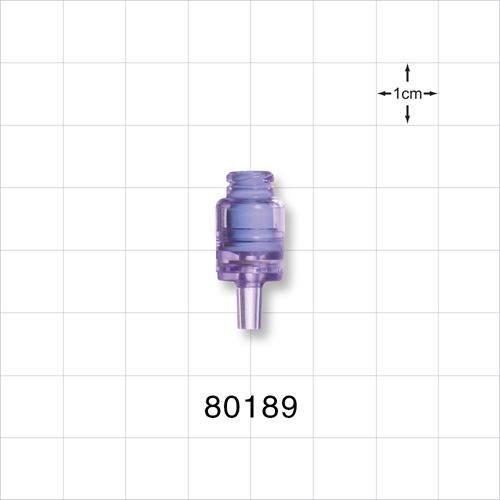 Needleless Injection Site, Swabbable, Female Luer Lock, Male Luer Slip, One Way Check Valve - 80189