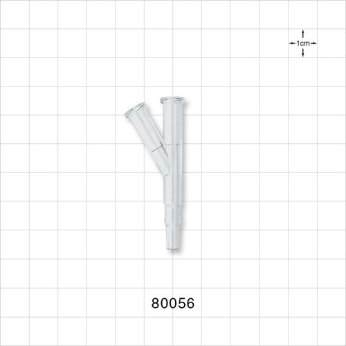 Y Connector with 2 Female Luers and Male Slip - 80056
