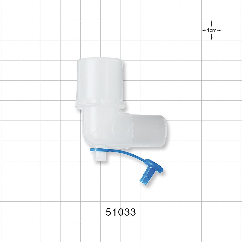 Gas Sampling Elbow with Cap - 51033 | Qosina