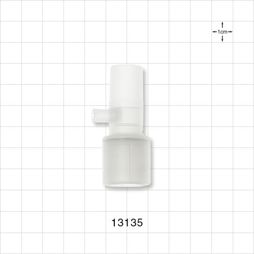 Straight Connector with Port - 13135