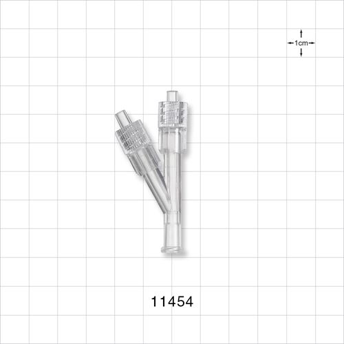 Y Connector, Female Luer Connector, Two Rotating Male Luer Locks - 11454