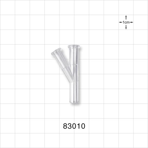 Y Connector with 2 Female Luers - 83010