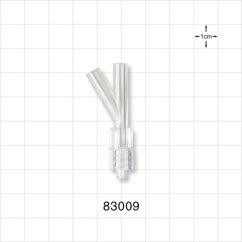 Y Connector, Male Luer Connector with Spin Lock - 83009
