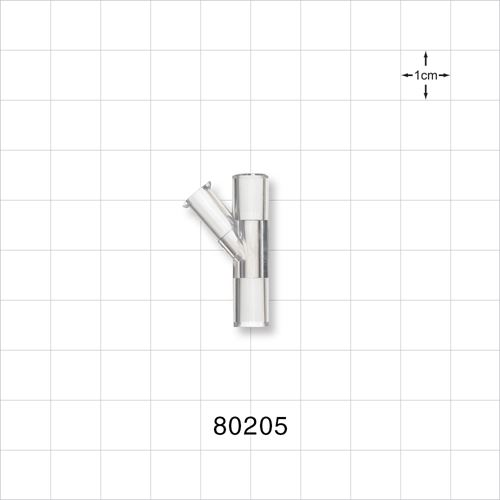 Y Connector with Female Luer Lock Side Arm - 80205