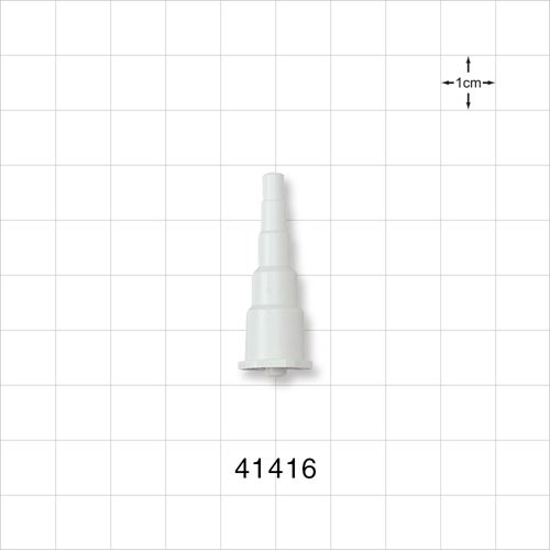 Stepped Connector, White, Male Luer Lock - 41416