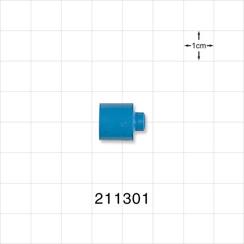 Reducer with Short Neck, Blue - 211301