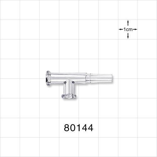 T Connector, 2 Female Luer Locks, 1 Male Slip - 80144