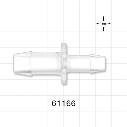 Straight Connector, Barbed, Clear - 61166