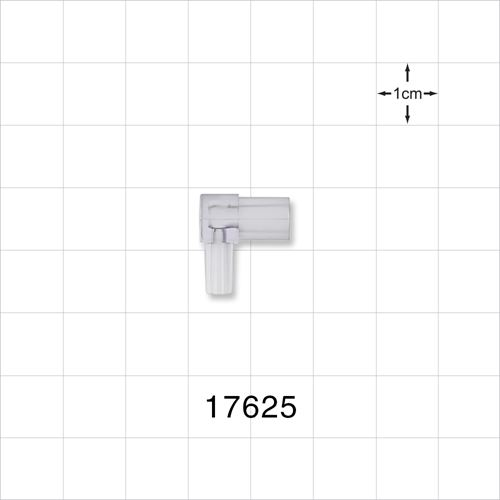 Elbow Connector, Female Slip with Male Luer Slip, Radiation Grade - 17625