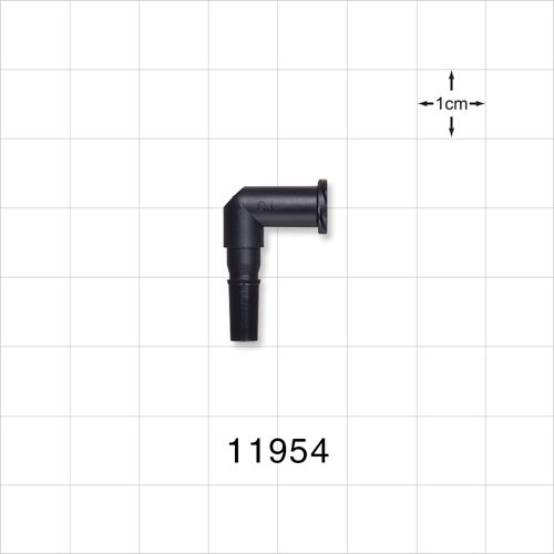 Elbow Connector, Female Luer Lock, Male Luer Slip, Black - 11954