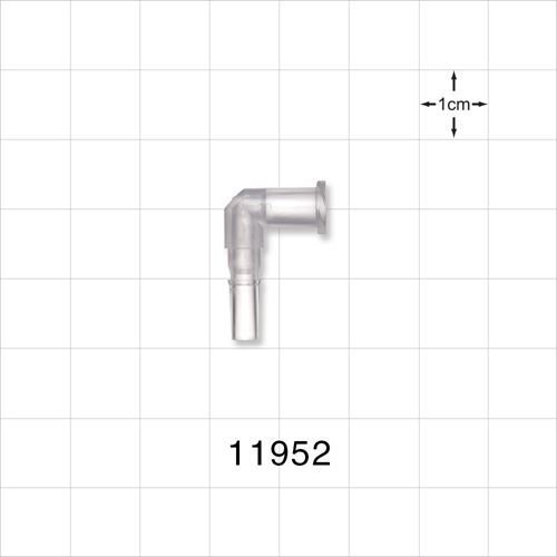 Elbow Connector, Female Luer Lock, Male Luer Slip - 11952