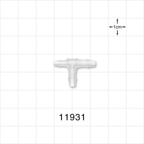 T Connector, Natural, Barbed - 11931