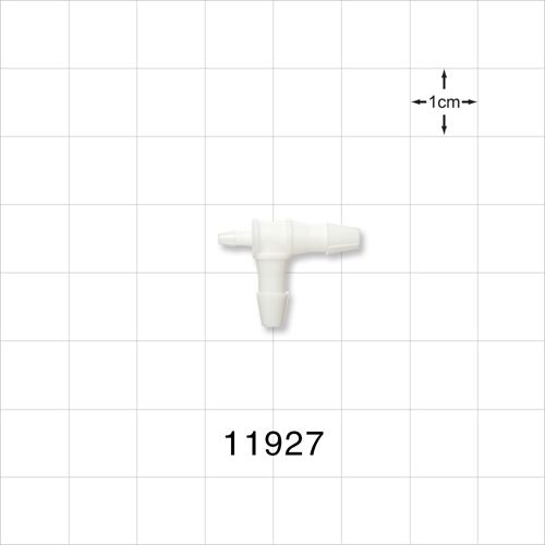 T Connector, White, Barbed - 11927