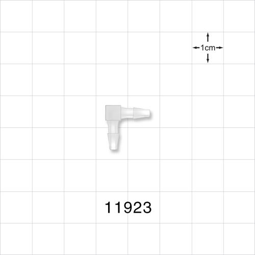 Elbow Connector, Natural, Barbed - 11923