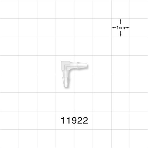 Elbow Connector, Natural, Barbed - 11922