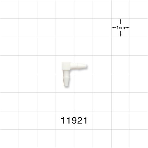 Elbow Connector, White, Barbed - 11921
