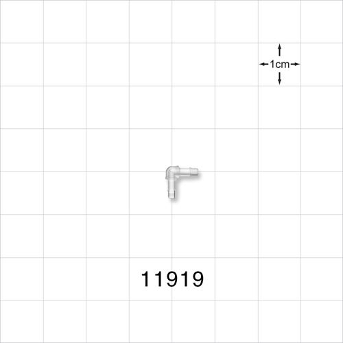 Elbow Connector, Natural, Barbed - 11919