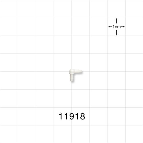 Elbow Connector, White, Barbed - 11918