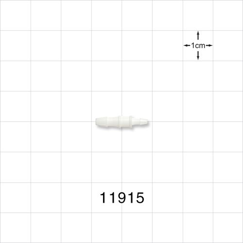 Straight Connector, White, Barbed Reducer - 11915