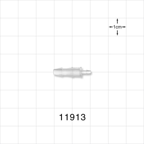 Straight Connector, Natural, Barbed Reducer - 11913