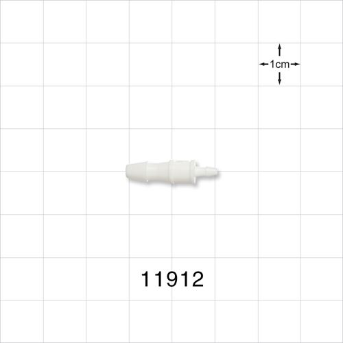 Straight Connector, White, Barbed Reducer - 11912
