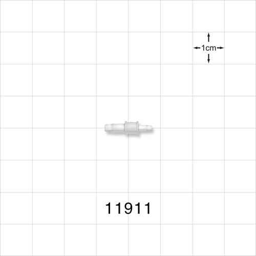 Straight Connector, Natural, Barbed Reducer - 11911