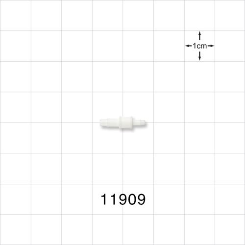 Straight Connector, White, Barbed Reducer - 11909