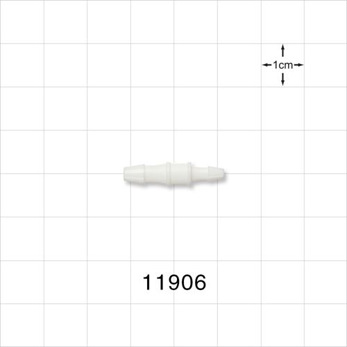 Straight Connector, White, Barbed Reducer - 11906