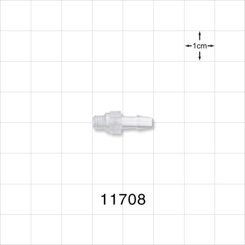 Threaded 10-32 UNF Barbed Connector - 11708