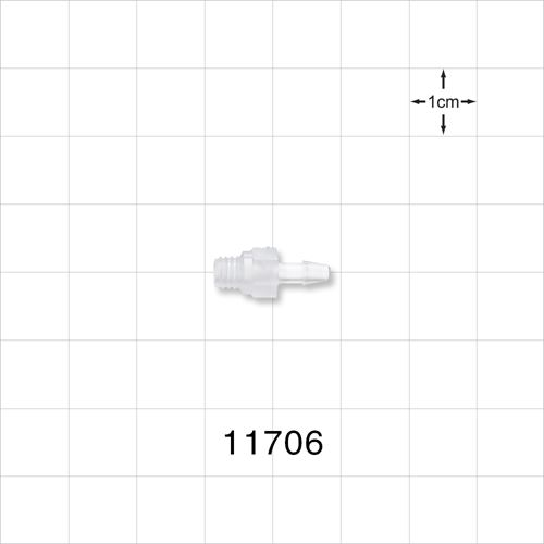 Threaded 10-32 UNF Barbed Connector - 11706