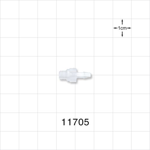 Threaded 10-32 UNF Barbed Connector - 11705