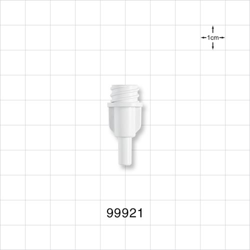 Large-Bore Female Connector, Economy , White - 99921
