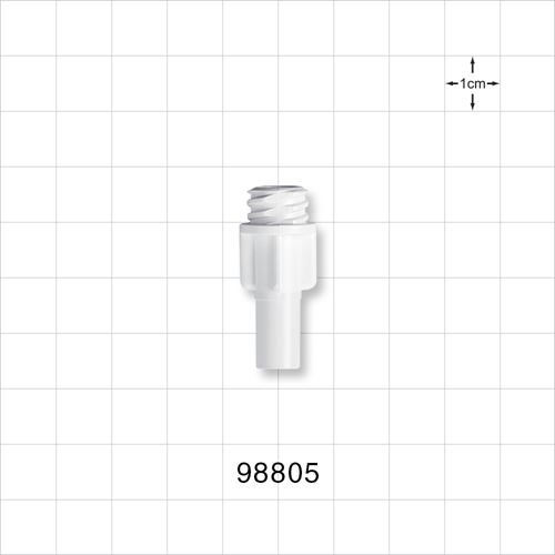 Large-Bore Female Connector, White - 98805