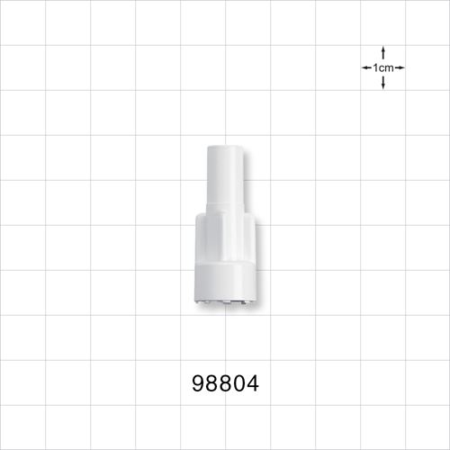 Large-Bore Male Connector, White - 98804