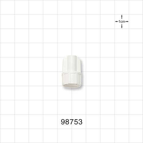 Large-Bore Male Cap, Non-Vented, White - 98753